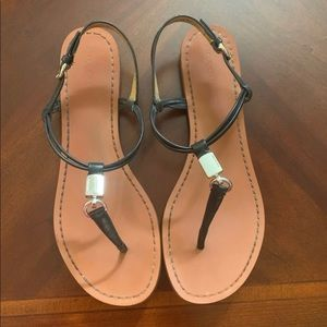 Coach black sandals-Size 9.5